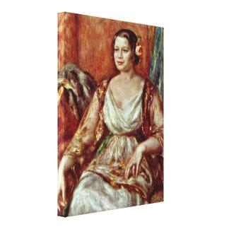 Pierre-Auguste Renoir - Tilla Durieux-portrait Canvas Prints