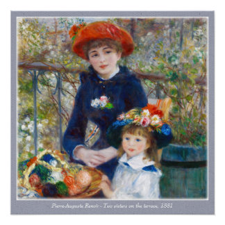 Pierre-Auguste Renoir Two sisters CC0400 Poster