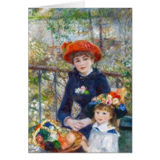 Pierre-Auguste Renoir Two sisters on terrace Note Card