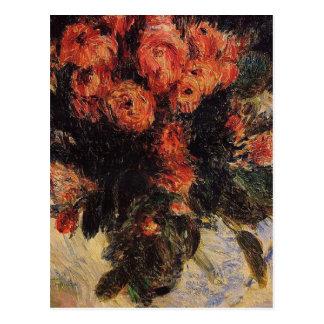 Pierre Auguste Renoir Vintage Roses Postcard