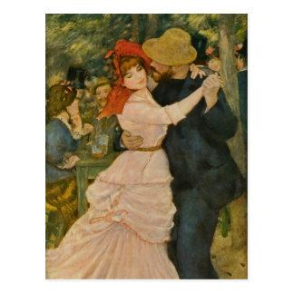 Pierre-Auguste Renoir's Dance at Bougival (1883) Postcard