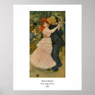 Pierre-Auguste Renoir's Dance at Bougival (1883) Poster