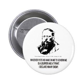 Pierre-Joseph Proudhon 6 Cm Round Badge