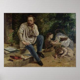 Pierre Joseph Proudhon  and his children Poster