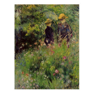 Pierre Renoir- Conversation in a Rose Garden Postcard