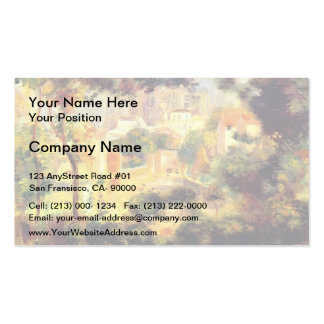 Pierre Renoir- Looking out at the Sacre Coeur Business Card