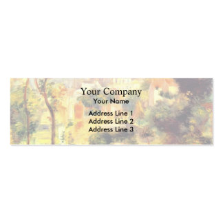Pierre Renoir- Looking out at the Sacre Coeur Business Card Template