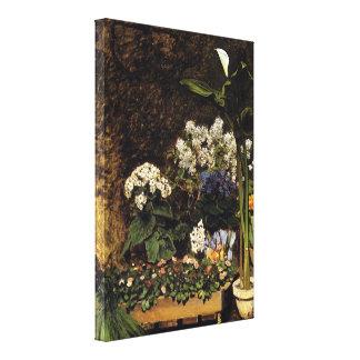 Pierre Renoir - Mixed Spring Flowers Canvas Prints