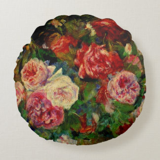 Pierre Renoir painting, Roses Round Cushion