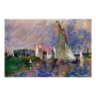 Pierre Renoir - Regatta in Argenteuil Print