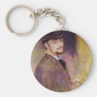 Pierre Renoir- Self-Portrait at Age of Thirty Five Key Chains