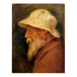 Pierre Renoir- Self-Portrait with a White Hat Postcard