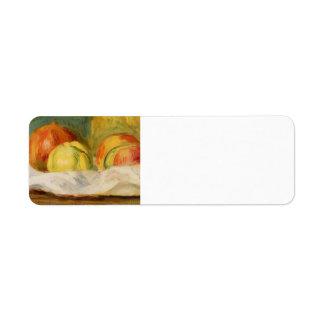 Pierre Renoir-Still Life with Apples &Pomegranates Return Address Label