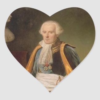Pierre-Simon, marquis de Laplace Heart Sticker