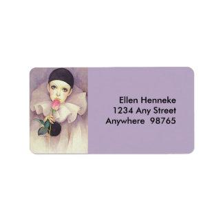 Pierrot 1980s address label
