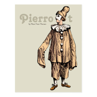 Pierrot by Hans Peter Hansen CC0733 Postcard