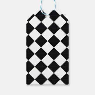 Pierrot plaid black and white gift tags