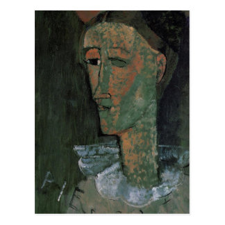 Pierrot (Self Portrait as Pierrot) by Amedeo Modig Postcard