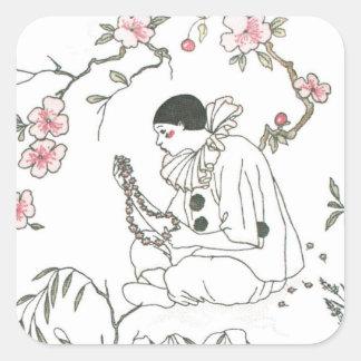 Pierrot's Dream Square Sticker