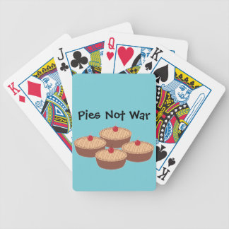 Pies Not War Bicycle Playing Cards
