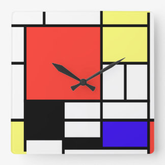 Piet Mondriaan and 1926 Composition Wallclock