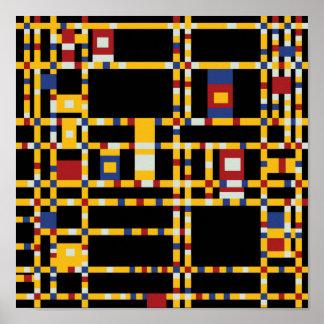 Piet Mondrian - Broadway Boogie Woogie Modern Art Poster