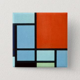 Piet Mondrian Composition 15 Cm Square Badge