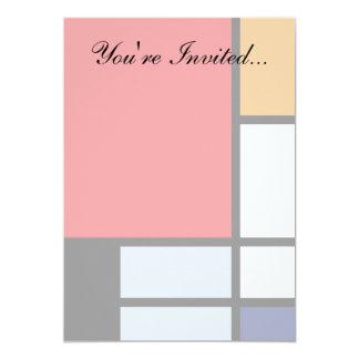Piet Mondrian - Composition with Large Red Plane 13 Cm X 18 Cm Invitation Card