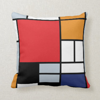 Piet Mondrian - Composition with Large Red Plane Cushion