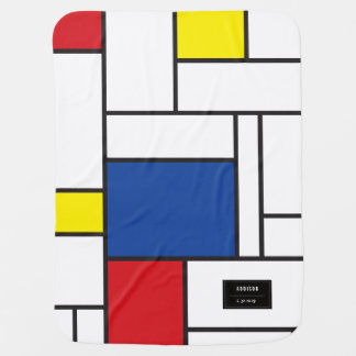Piet Mondrian Minimalist De Stijl Modern Art Baby Blanket