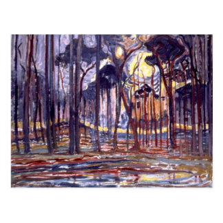 Piet Mondrian painting, Forest Postcard