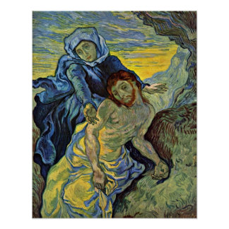Pieta (after Delacroix) by Vincent Willem van Gogh Poster