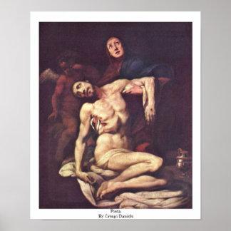 Pieta. By Crespi Daniele Poster