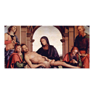 Pietà By Perugino Pietro (Best Quality) Photo Card