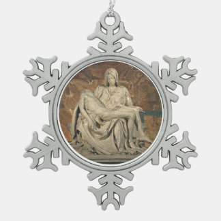 Pieta Pewter Ornament