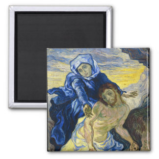 Pieta Vincent van Gogh fine art painting Square Magnet
