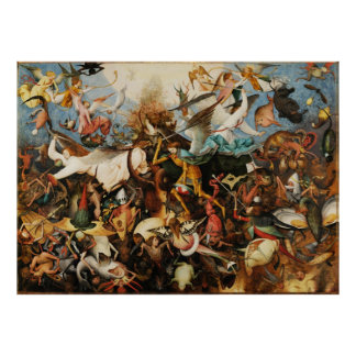 Pieter Bruegel Fall of the Rebel Angels Painting Poster