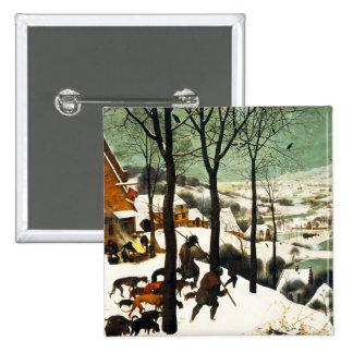 Pieter Bruegel Hunters in the Snow Button