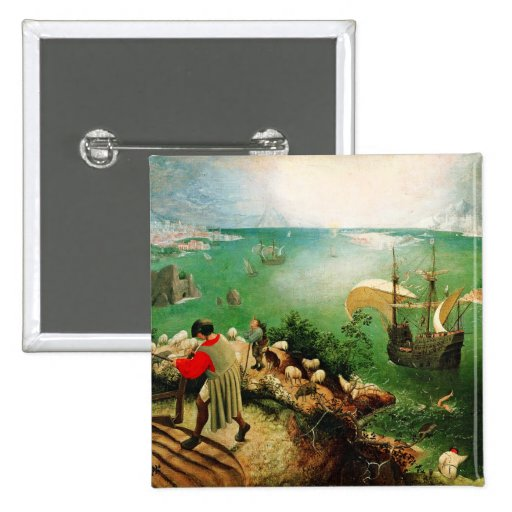 Pieter Bruegel Landscape with the Fall of Icarus Pinback Button