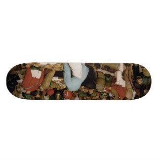 Pieter Bruegel the Elder - Peasant Wedding 21.6 Cm Old School Skateboard Deck