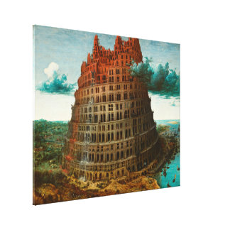 PIETER BRUEGEL - The little tower of Babel 1563 Canvas Print