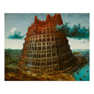 PIETER BRUEGEL - The little tower of Babel 1563 Poster