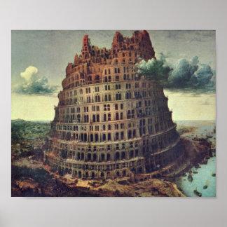 Pieter Bruegel-Tower of Babel Poster