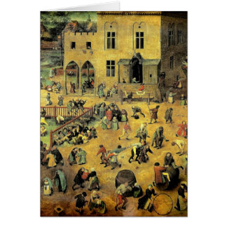 "Pieter Bruegel's ""Children's Games"" - 1560 Card"