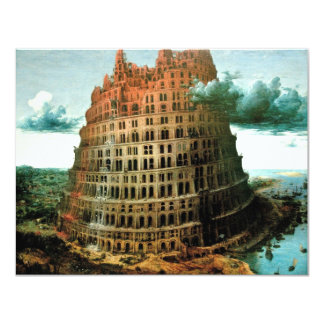 "Pieter Bruegel's The ""Little"" Tower of Babel 4.25"" X 5.5"" Invitation Card"