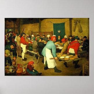 Pieter Bruegel's The Peasant Wedding (1568) Posters