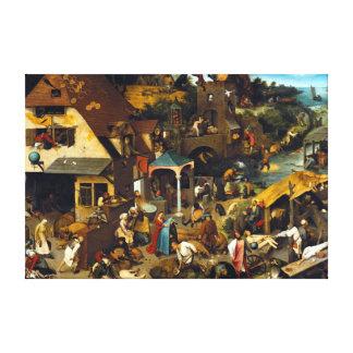 Pieter Brueghel Netherlandish Proverbs Canvas Print
