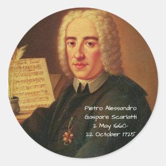 Pietro Alessandro Gaspare Scarlatti Classic Round Sticker