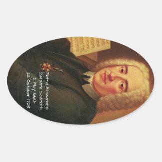 Pietro Alessandro Gaspare Scarlatti Oval Sticker