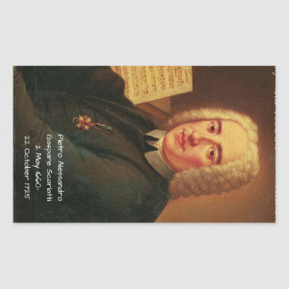 Pietro Alessandro Gaspare Scarlatti Rectangular Sticker